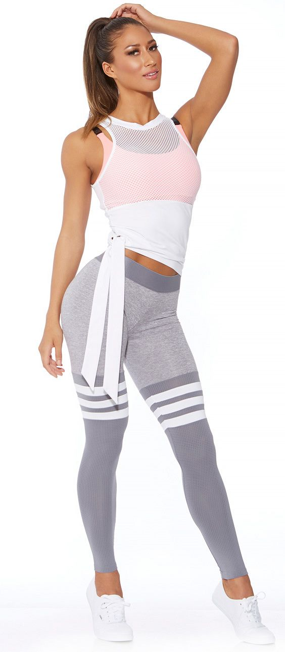 6cd561dc52b55 Silver thigh-high sock leggings. Designed exclusively by Bombshell  Sportswear. #Patented