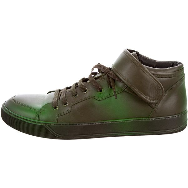 Pre-owned - Leather trainers Lanvin RVBVA5
