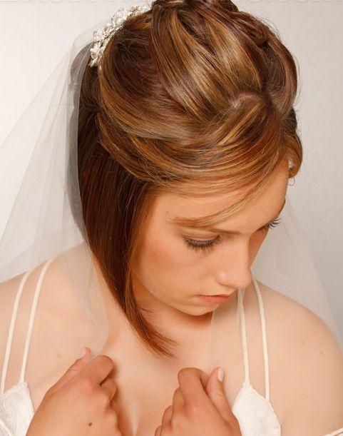 inverted bob wedding hairstyles