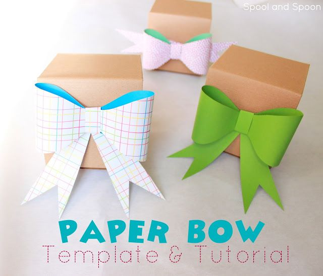 Spool and Spoon How to Paper Bow + Free Template DIY - bow template