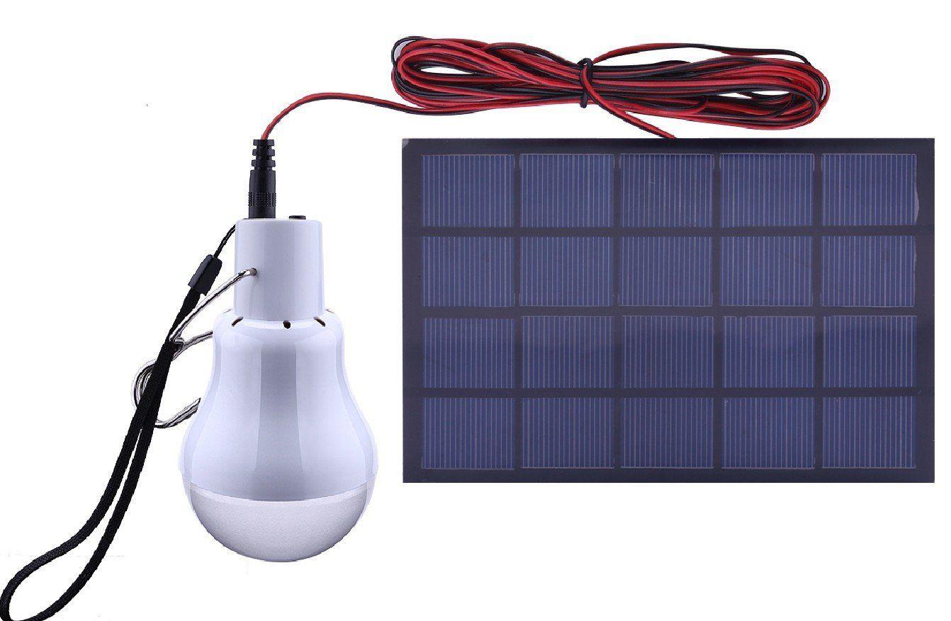 Bonlux Portable Solar Power LED Light Bulbs Solar Panel