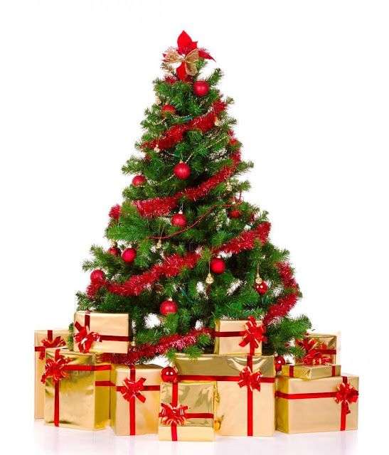 Merry Christmas Tree With Gifts, Big Christmas Tree HD