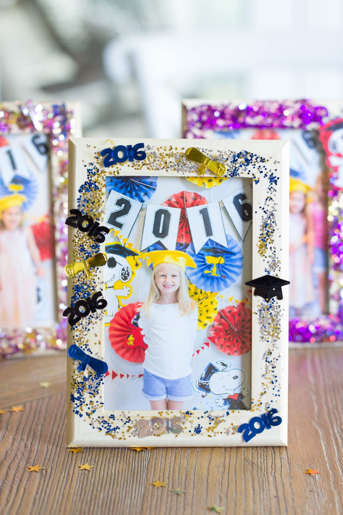 Diy Glittered Graduation Frames