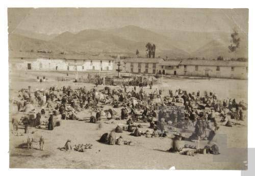Plaza de Armas antigua de Cajamarca.