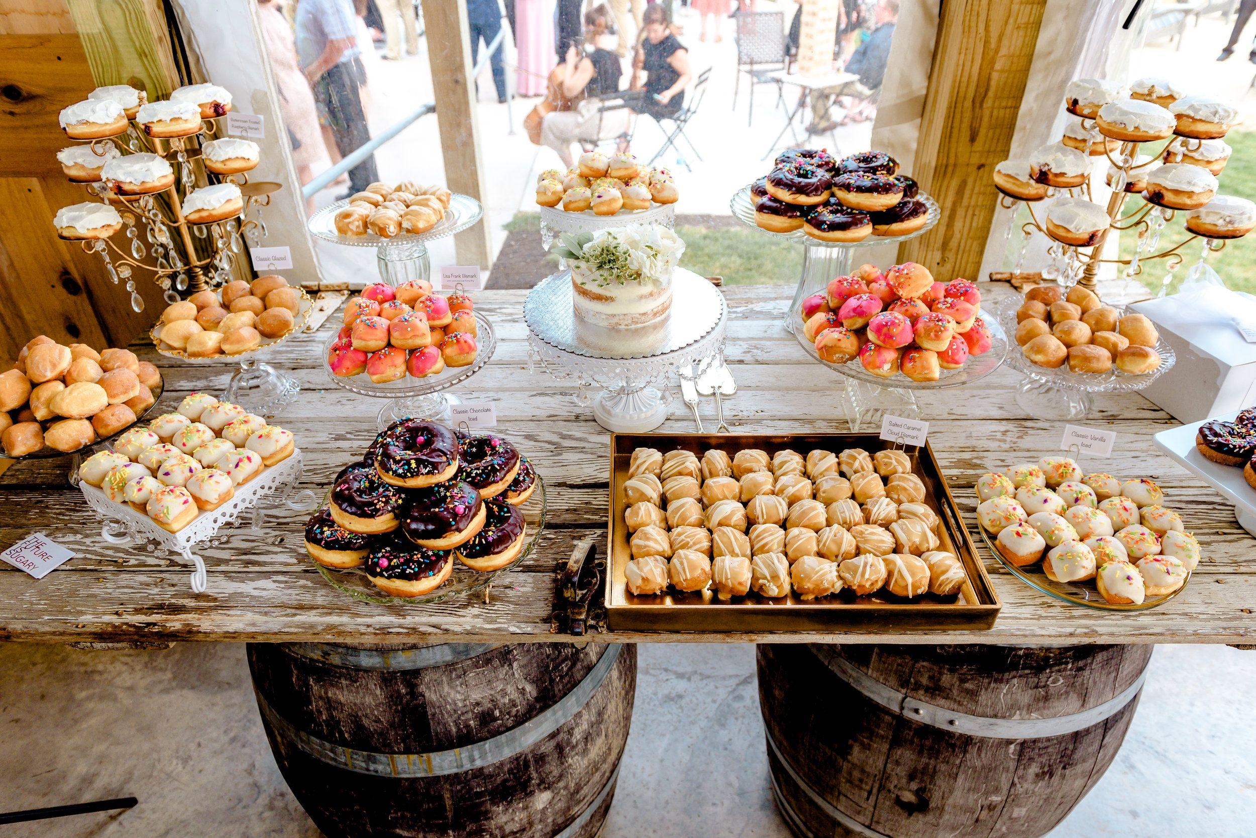 Ashley Justin Dessert Bar Wedding Reception Dessert Table Wedding Donuts