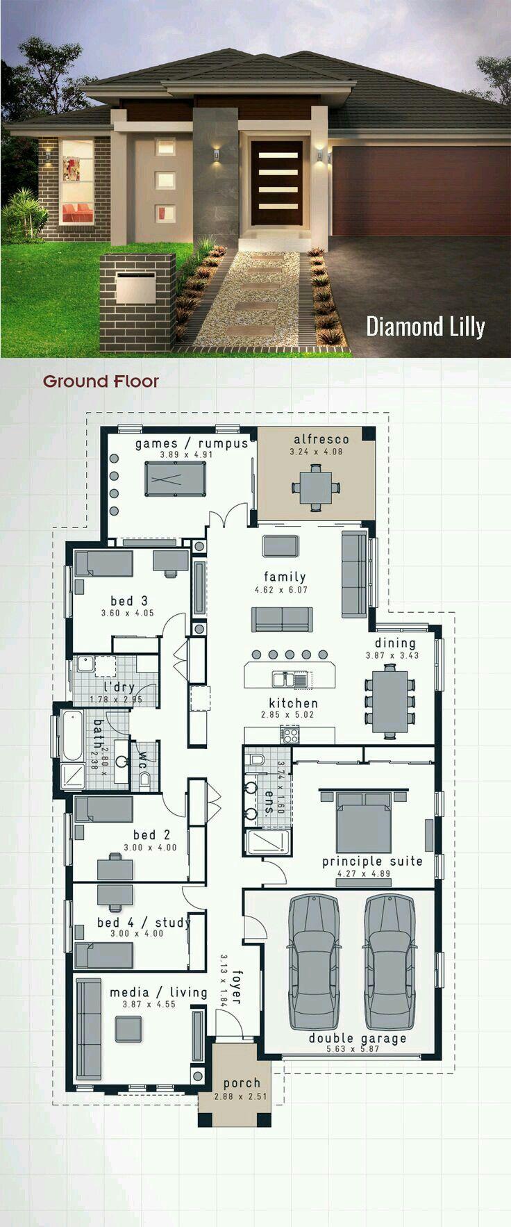 Con modificaciones casas pinterest planos casas y for Modificaciones de casas pequenas
