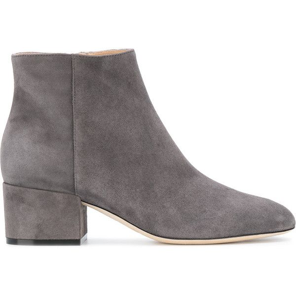 4e8ba8bb60c2 Sergio Rossi classic ankle boots (38.370 RUB) ❤ liked on Polyvore featuring  shoes