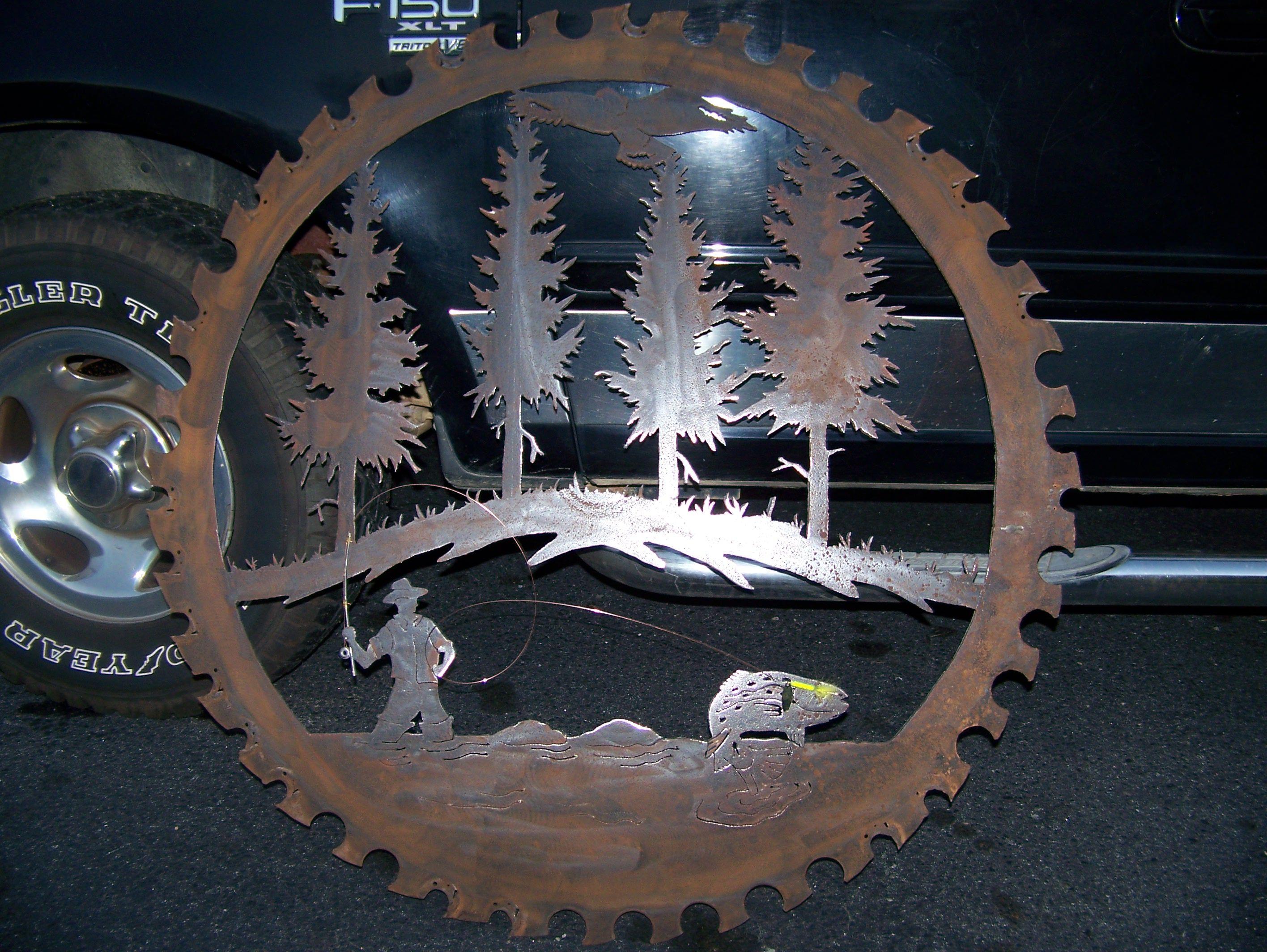 Design elements plasma cutting custom design plasma cutting artistic - 48 Inch Saw Blade Cut With A Plasma Cutter