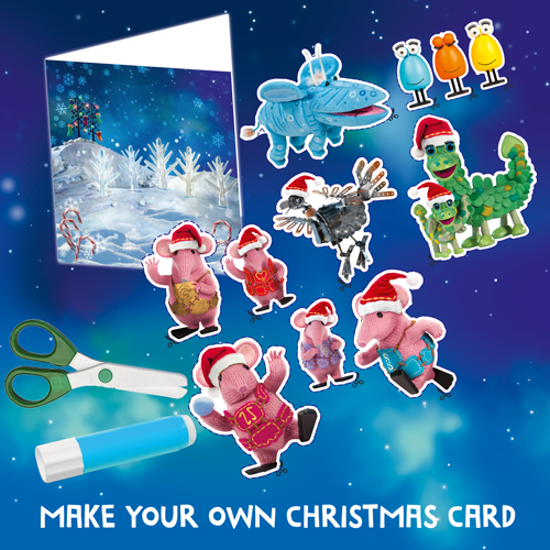 create your own clangersforkindness clangery christmas card with our free printable the card includes