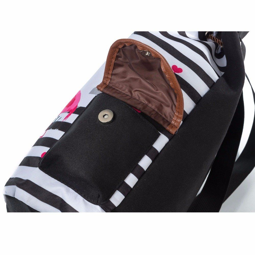 ce38eff685d1b Colorful Cartoon Unicorn Print Backpack Women Drawstring Design Travel  Rucksacks Striped Canvas School Backpack For Teenagers 001170b  Toys    Games Backpack ...