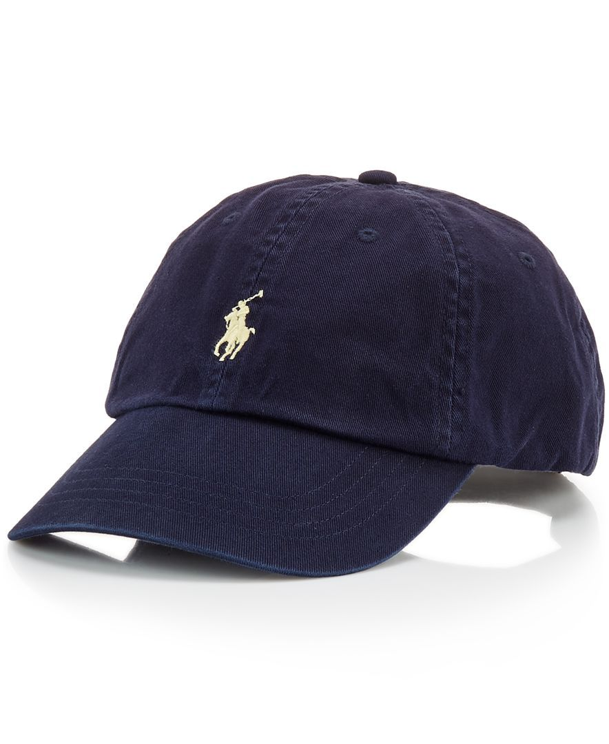 d453dce6c6d A good sport  this classic baseball cap in durable washed cotton is  distinguished with Polo s signature embroidered pony at front.