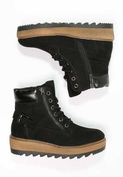 Black Con Y Botas Cordones Tamaris Botines q6xg5Rt