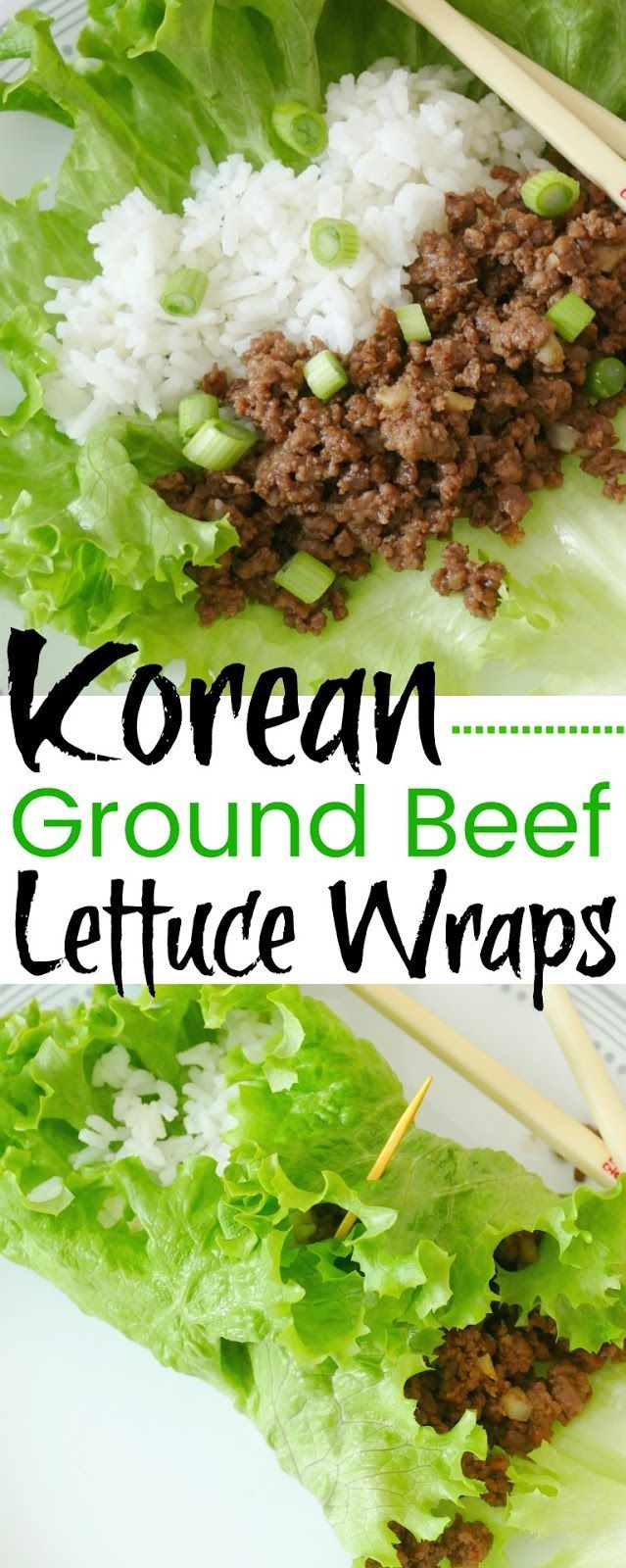 Korean Ground Beef And Rice Lettuce Wraps Recipe Recipe In 2020 Korean Ground Beef Wrap Recipes Lettuce Wrap Recipes