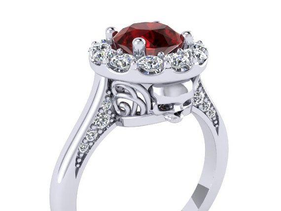 Bloody Valentine Secret Skull Engagement Ring by UntilDeathInc