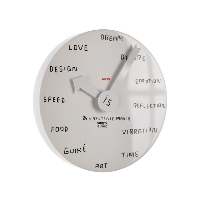 Blank Wall Clock For Customizing The Hours Marti Guixe For Alessi Wall Clock Design Unusual Clocks Wall Clock