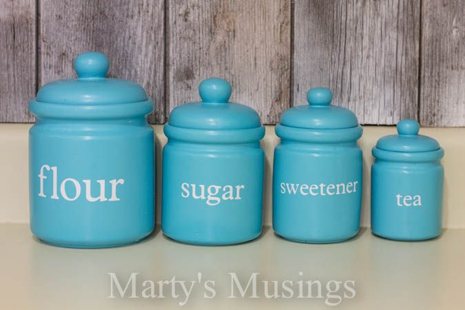 Delicieux Kitchen Canisters From Martyu0027s Musings