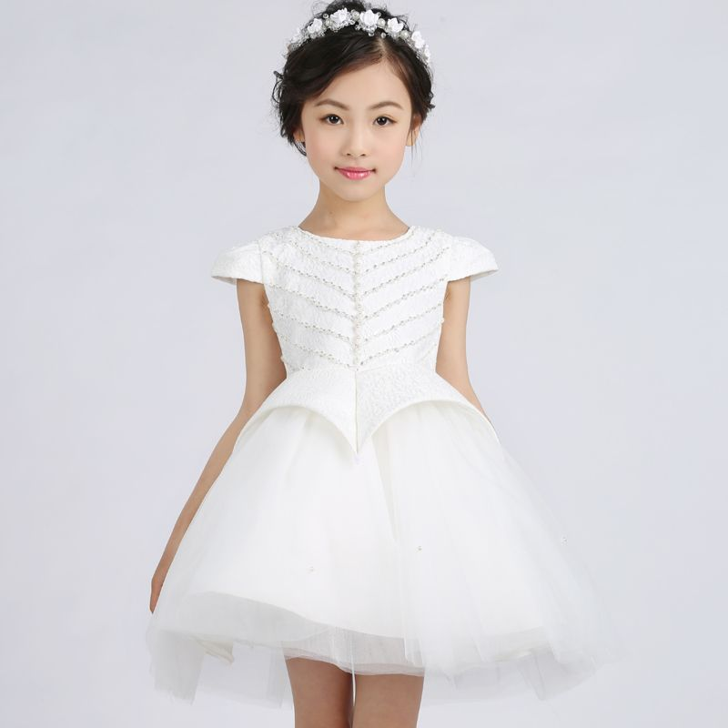 Click to Buy << 2017 new hot sale Children Dress white Girls ...