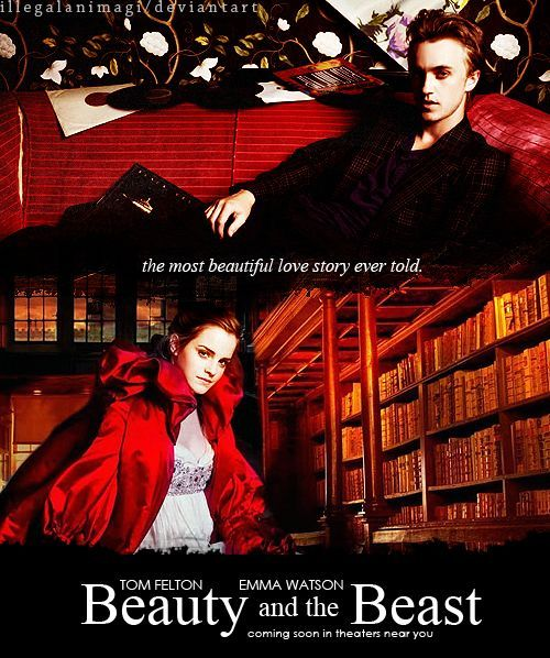 Fan Poster For Beauty And The Beast With Emma Watson Tom Felton In Title Role