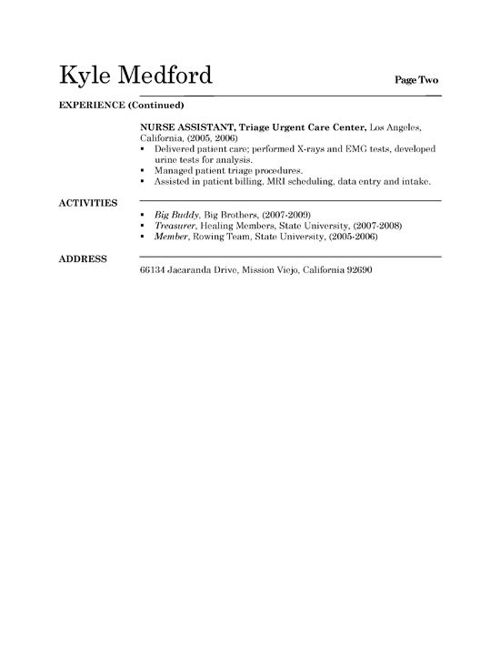 Medical Assistant Resume Graduate - http\/\/wwwresumecareerinfo - nursing assistant resume example