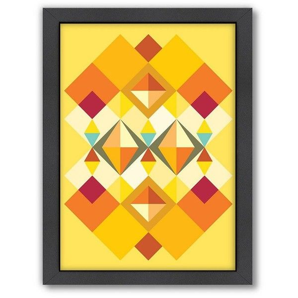 Americanflat Patricia Pino Squares Framed Wall Art found on Polyvore ...