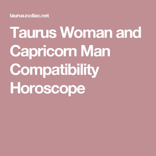 capricorn man taurus woman compatibility