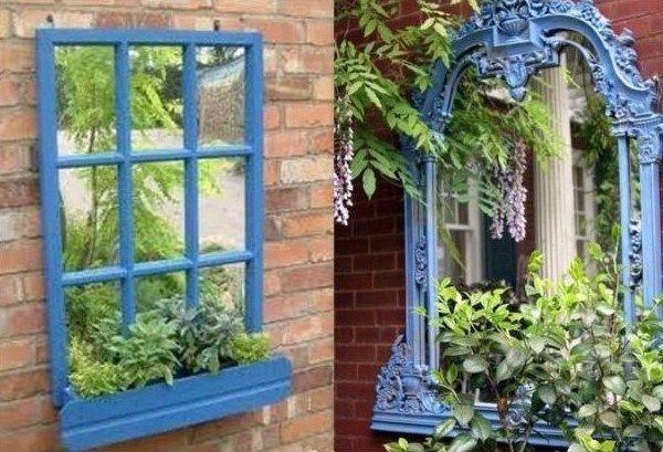 installer des miroirs au jardin maison jardins miroir. Black Bedroom Furniture Sets. Home Design Ideas