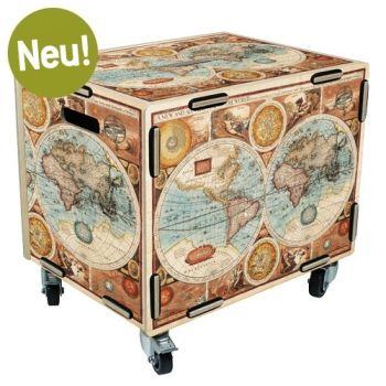 Rollbox Weltkarte Werkhaus Box Weltkarte