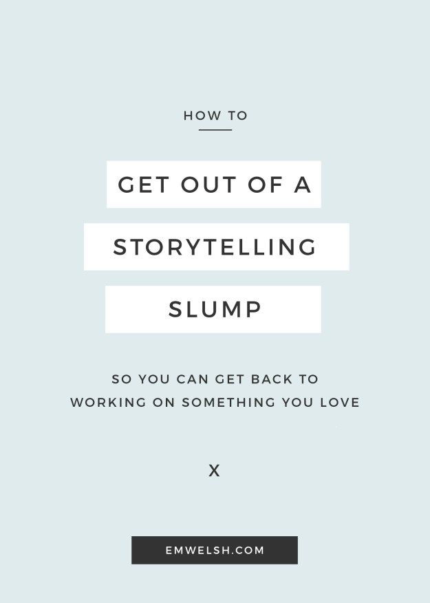 Having trouble writing? Read my tips to getting out of your slump!