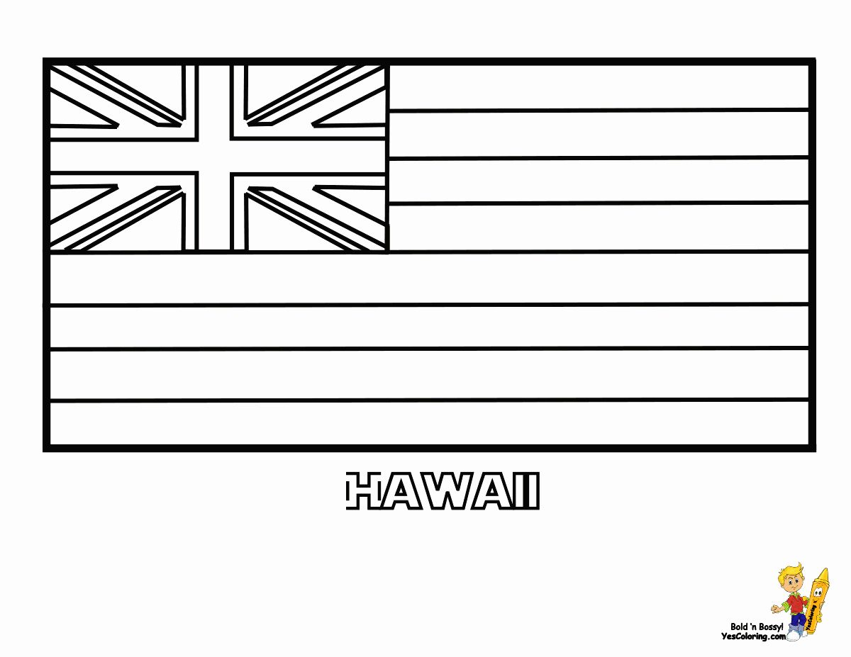 Hawaii Flag Coloring Page In 2020 Flag Coloring Pages Coloring