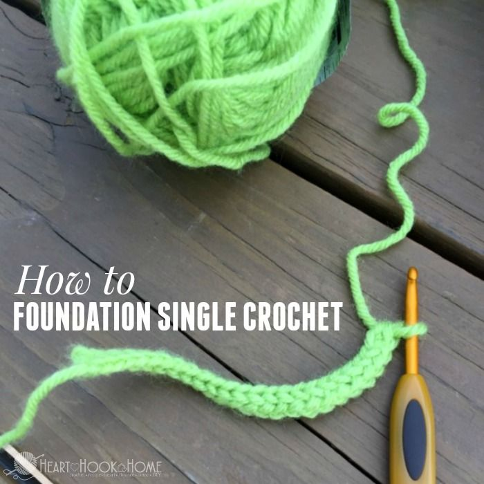 Hate going back into the chain on your foundation row in single crochet? Here's how to NEVER do that again!