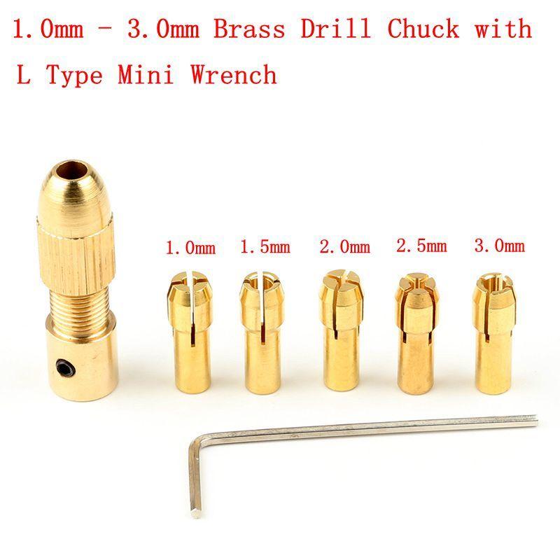 10Pcs 0.5-3.2mm MICRO TWIST Perceuse à Main Kit Chuck Electric Drill Bit Collet 2 mm