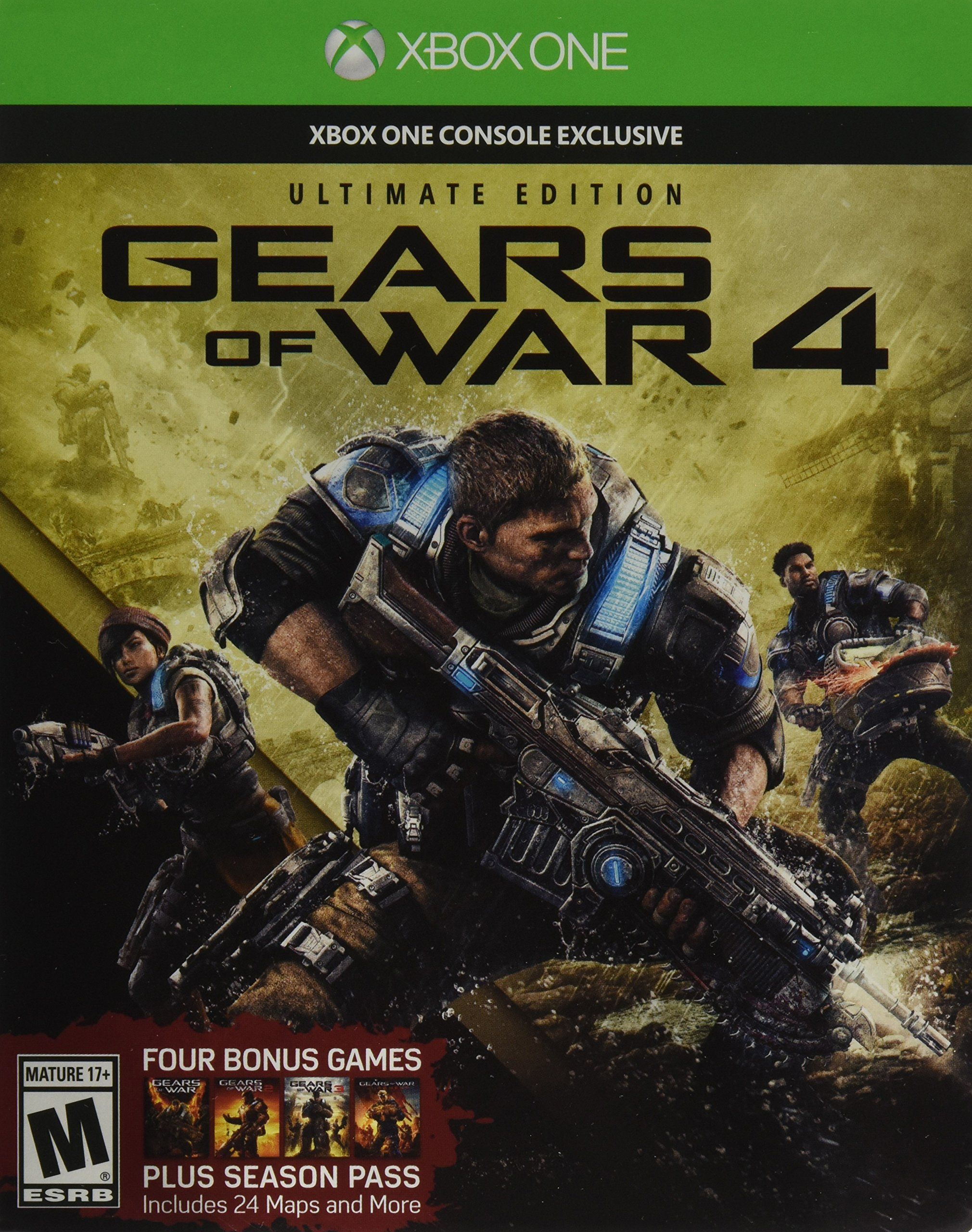 Gears of war 4 ultimate edition includes steelbook with
