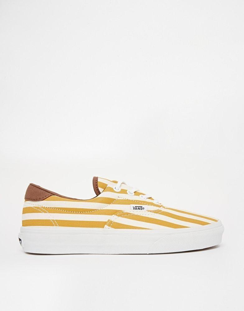 030127cd83 VANS Era 59 Golden Yellow Stripe Plimsolls Size 6 Uk EM12 76 in Clothes