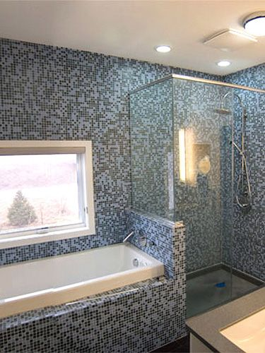 Separate shower and tub in small bathroombathPinterest