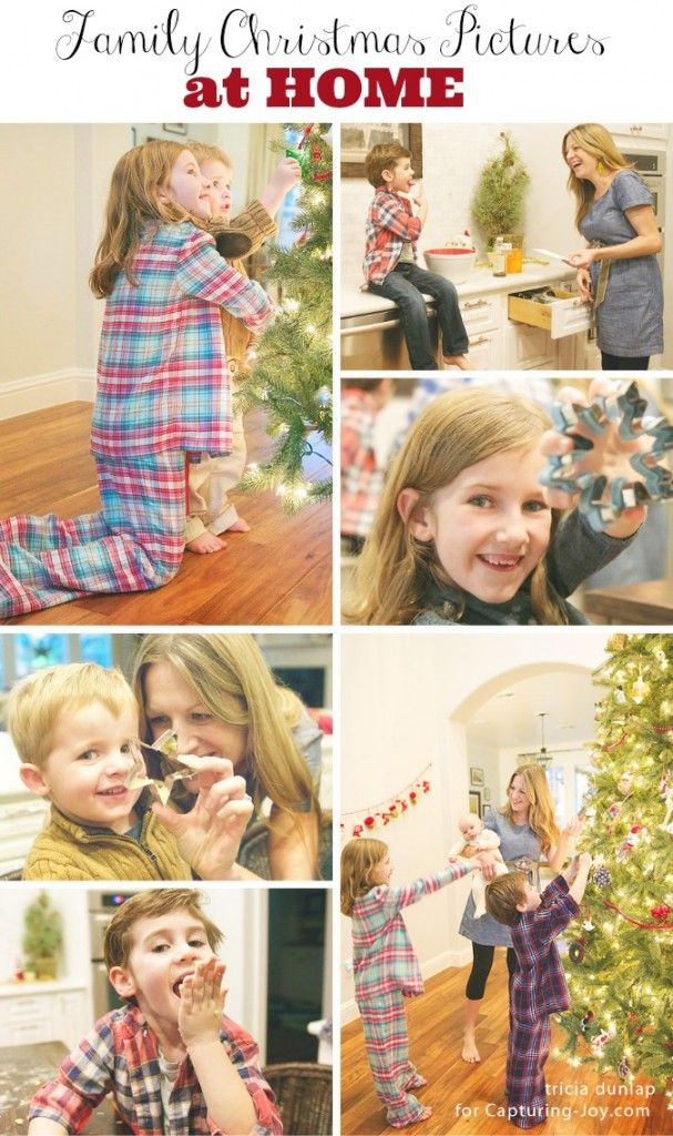 Here's a fun photo session to inspired your own Family Pictures at Home for Christmas | KristenDuke.com