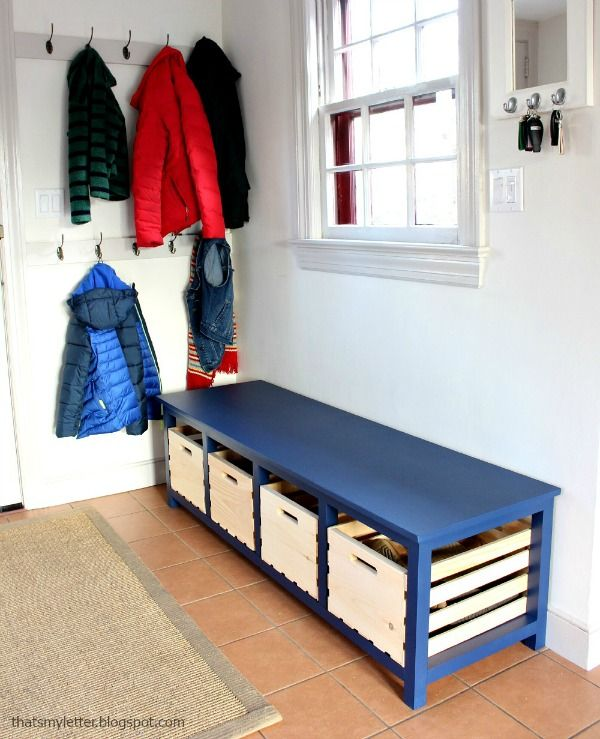 Diy Shoe Storage Bench Diy Entryway Bench Bench With Shoe