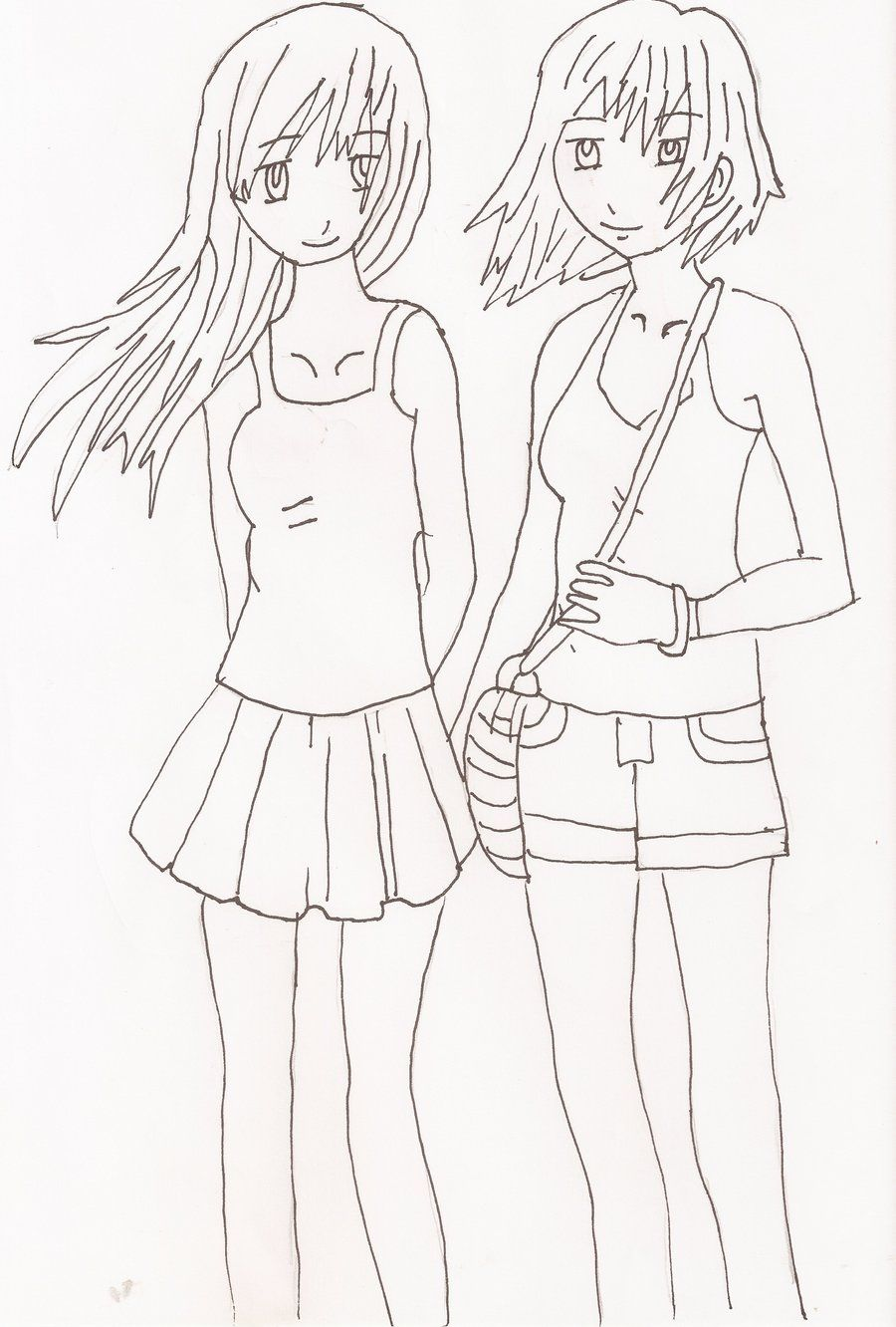 Easy best friend drawings www daf pinterest best for Best drawings to draw