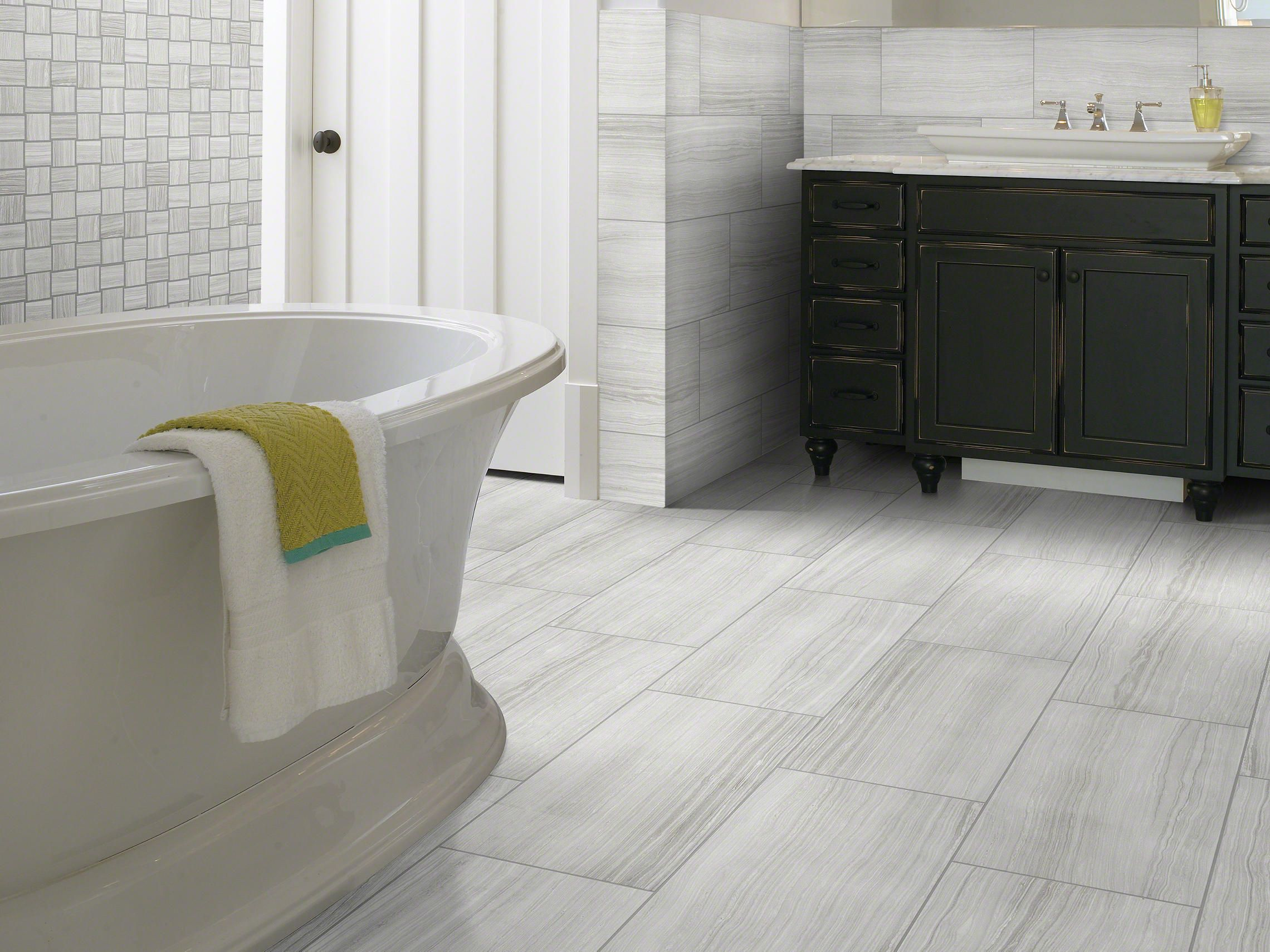 Lockport Glacier Tile for Master Bath Floor New House