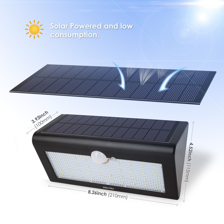 Amazon Com Albrillo 38 Led Solar Lights Motion Sensor