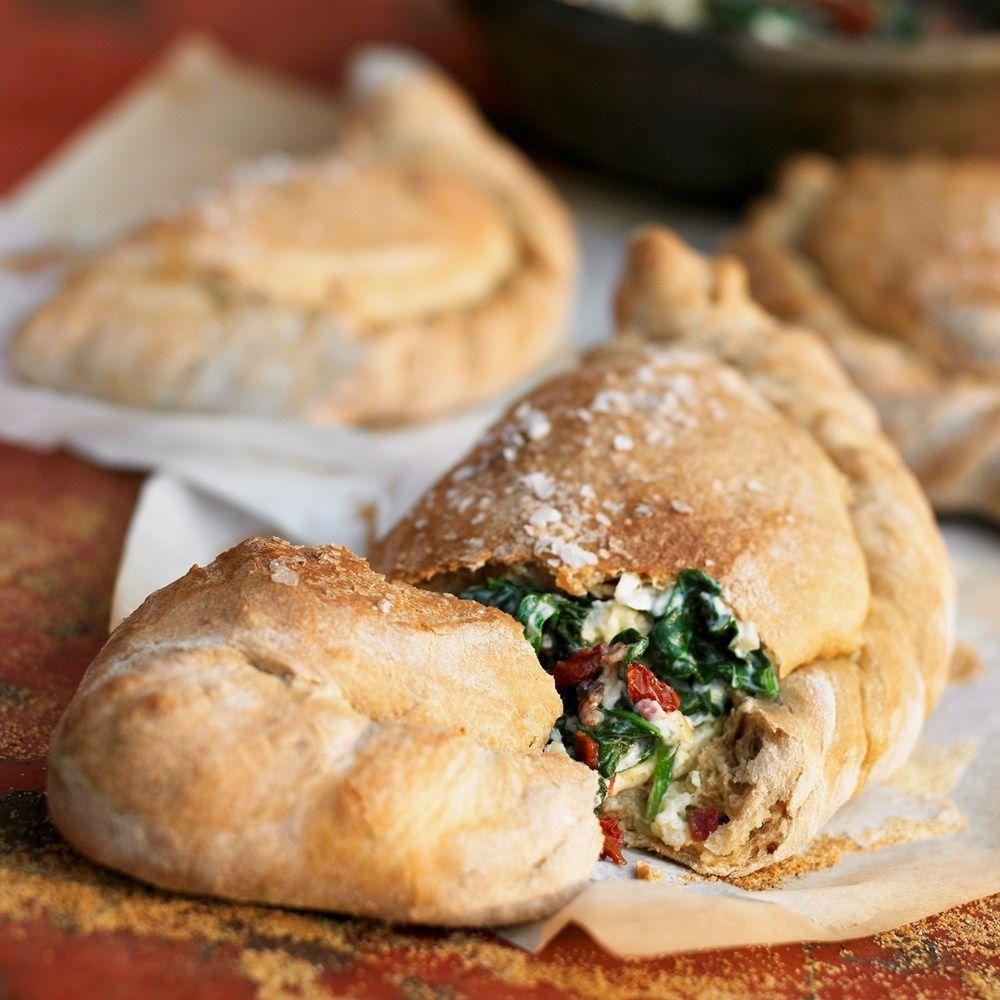 This leek and ricotta calzones recipe from BakingMad.com