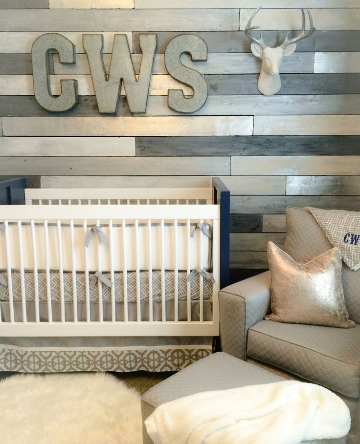 Transitional Nursery With Rustic Wood Wall: Image Result For Distressed Shiplap Nursery