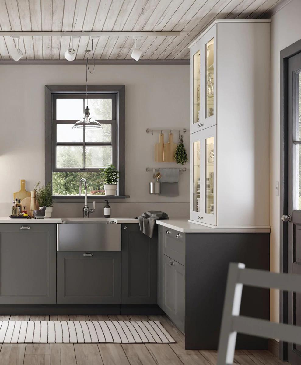 Ambienti Ikea Cucina cucina componibile axstad grigio scuro nel 2020 | cucine