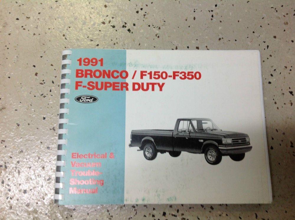 1991 ford f150 f 250 f 350 f250 f350 bronco wiring diagrams shop rh pinterest com