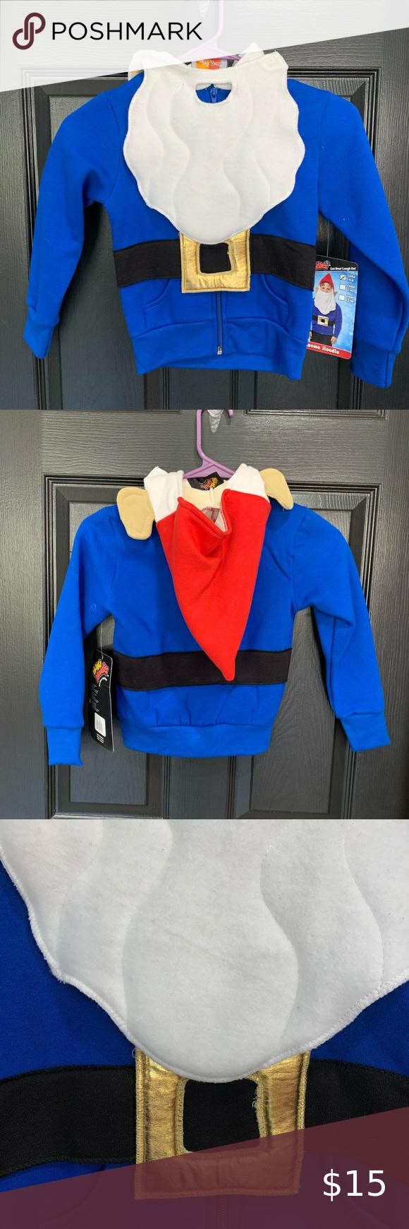"GNOME Costume Hoodie HA HA HOODIES 5/6 New with tags! Chest 14"" sleeve 17"" length 17"" Shirts & Tops Sweatshirts & Hoodies"