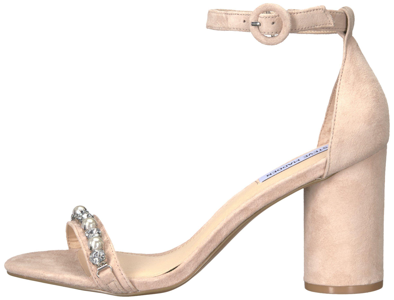 8 M US Bone Suede Steve Madden Womens Sparkles Dress Sandal