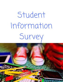 Student Information Forms   Student information, Student