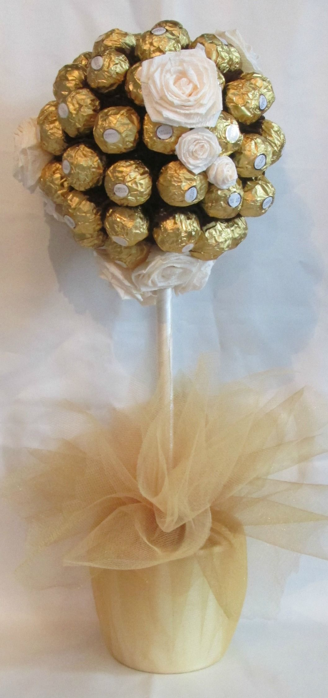 Ferrero Rocher Sweet Tree In Ivory And Gold Gifts For Special