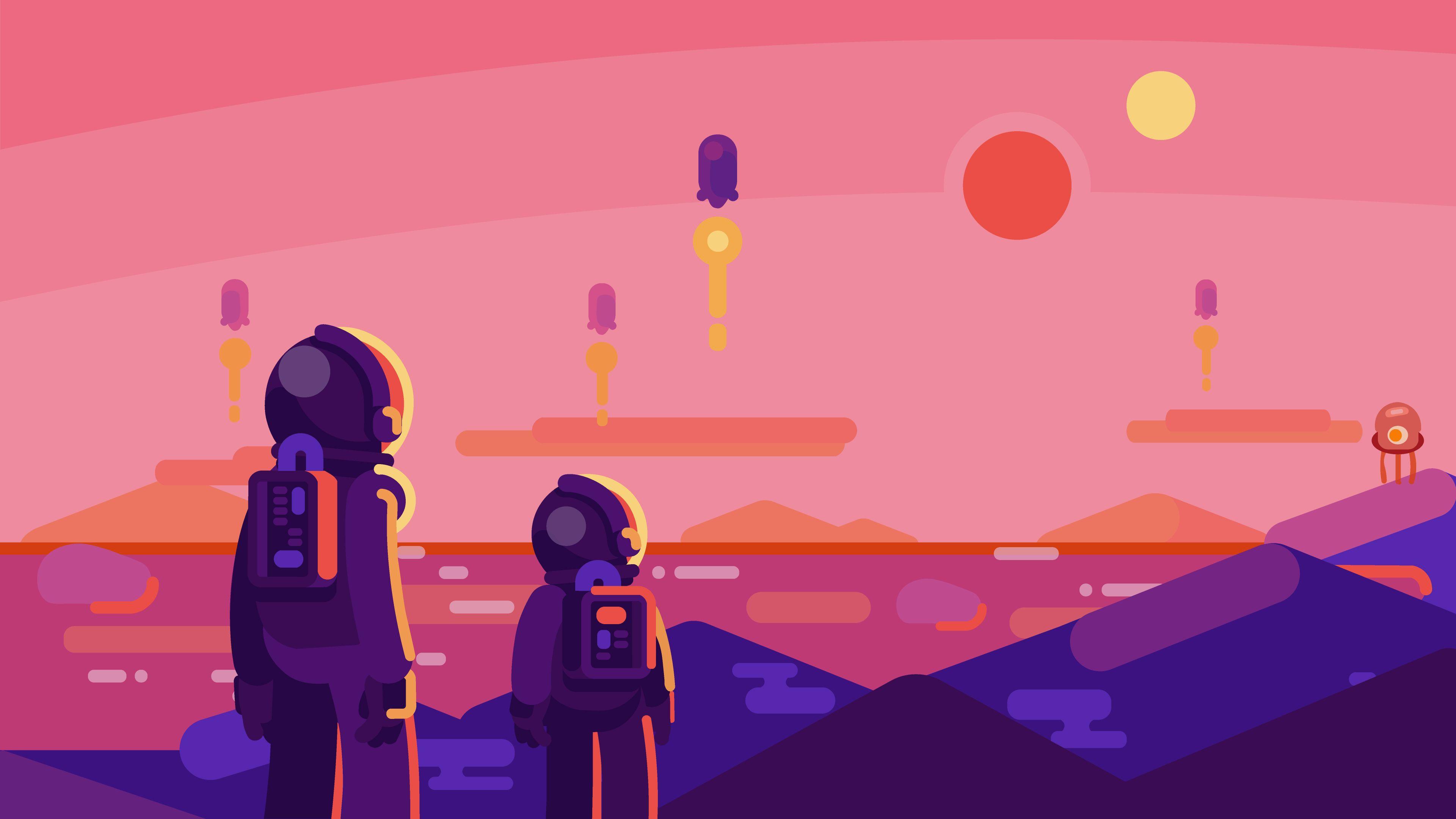 Kurzgesagt New Horizons [3840x2160] Desktop wallpaper
