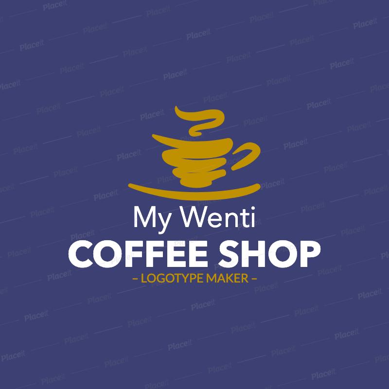Coffee Shop Logo Maker 956a Logo maker, Coffee shop logo