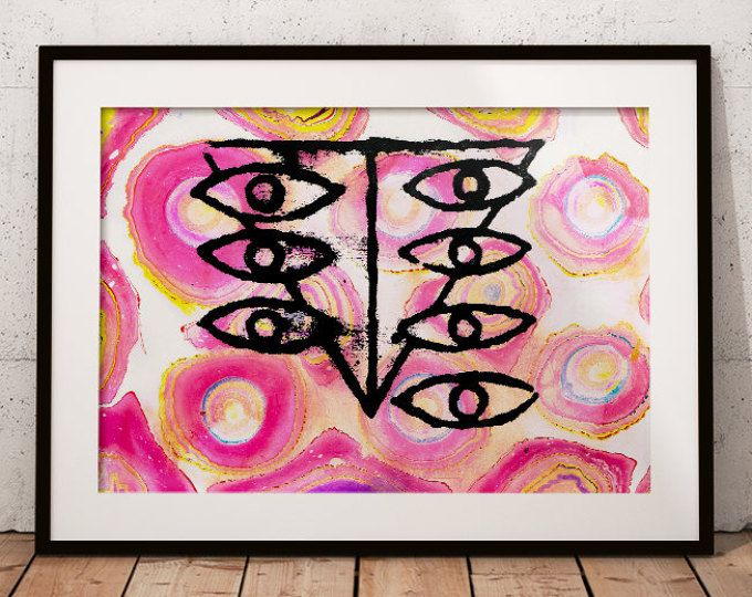 Printable Mixed Media Poster Downloadable Wall Art 8 5 X11 Landscape Orientation Neon Genesis Evangelion Seele In Surreal Artwork Mixed Media Artwork Art